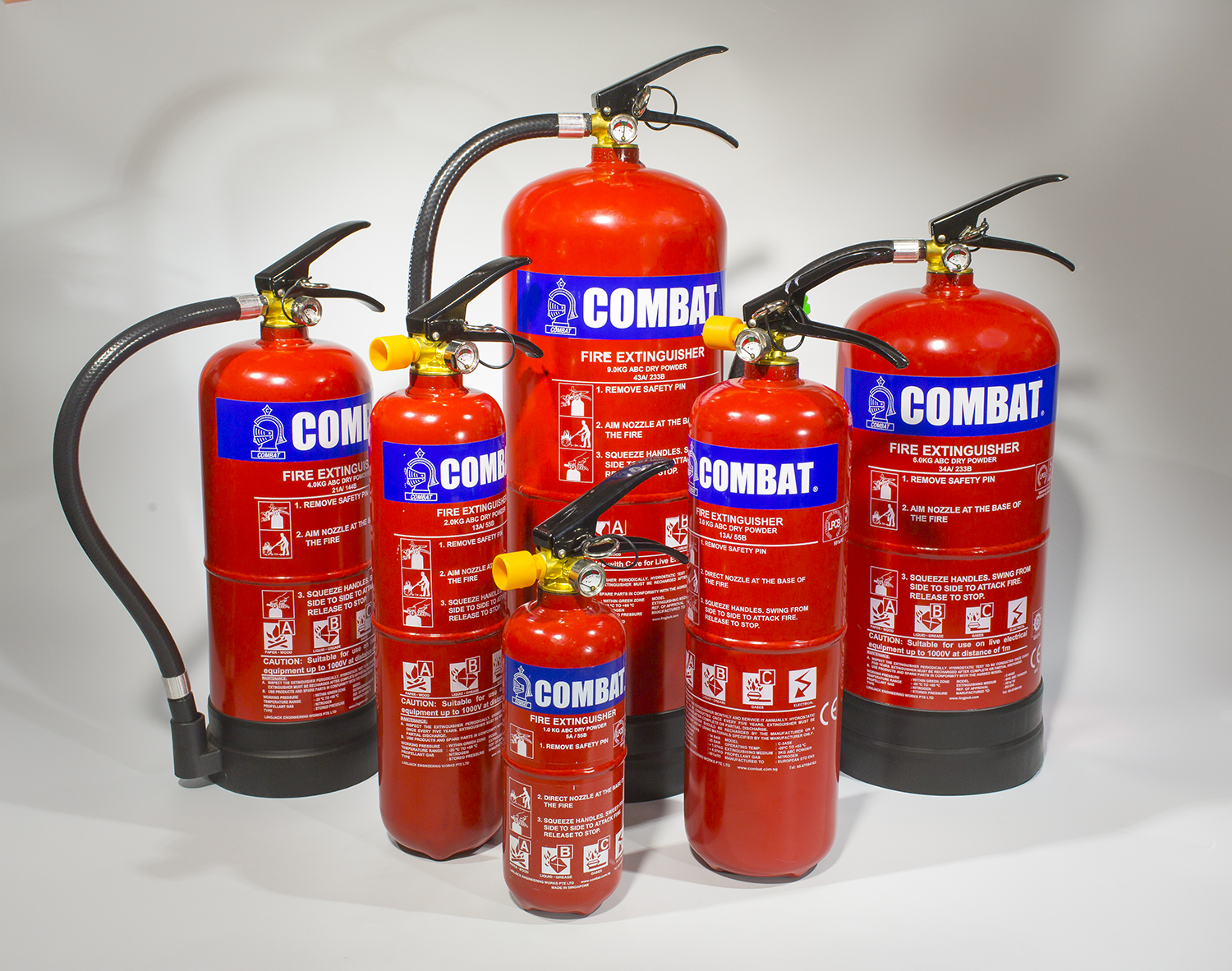 3kg abc stored pressure fire extinguisher combat